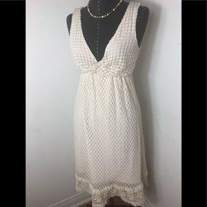 Max Studio Plunging White Dress